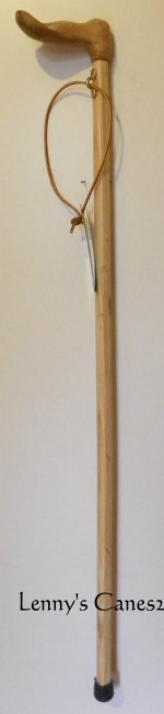Special Carved Hand Palm Grip Ash Cane 104 Main