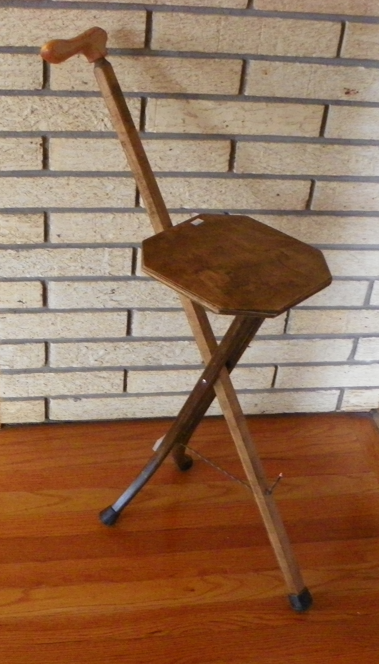 Walnut Colored Birch Seat Cane 106 Secondary Image