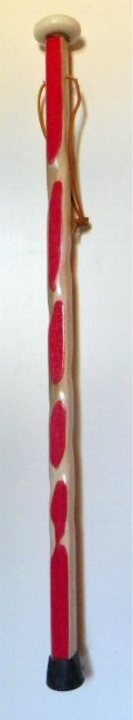 Maple & Red  color cane with a porcelain Knob 135 Main