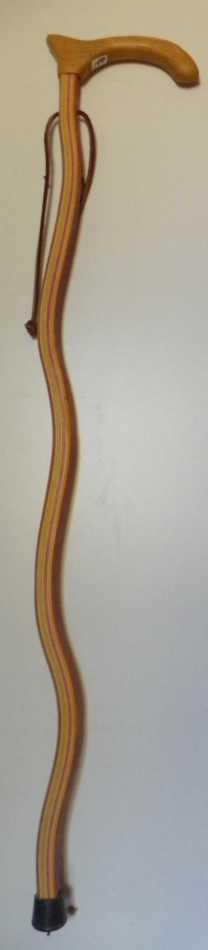 Waved Multi Colored Hardwood Cane.  180 Secondary Image
