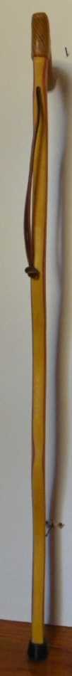 Waved Multi Colored Hardwood Cane.  180 Main
